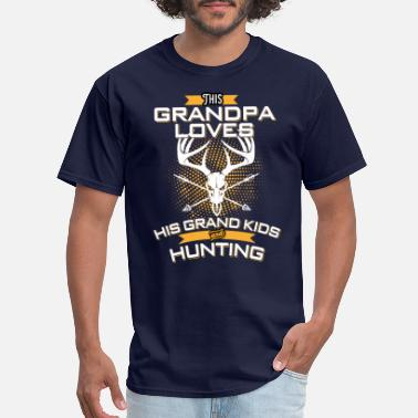 Grandpa Kids This Grandpa Love His Grand Kids And Hunting - Men's T-Shirt