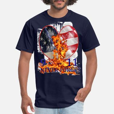 Trade 9 11 NEVER FORGET PATRIOTIC T-SHIRT - Men's T-Shirt
