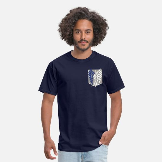 Attack T-Shirts - Survey Corps - Men's T-Shirt navy