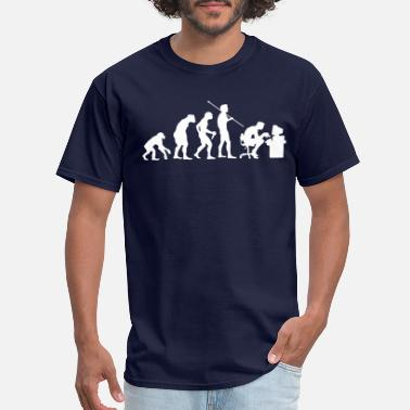 Evolution Evolution of a Computer Geek - Men's T-Shirt