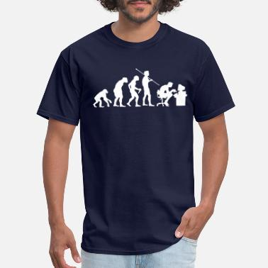 Nerd Evolution of a Computer Geek - Men's T-Shirt