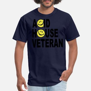 Acid House Acid House Veteran Smiley Logo - Men's T-Shirt
