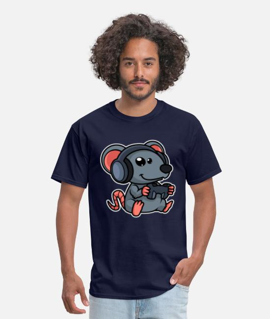Video Game T-Shirts - Gaming Mouse Funny - Men's T-Shirt navy