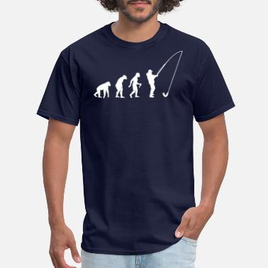 Evolutionary History Fisherman Evolution - Men's T-Shirt