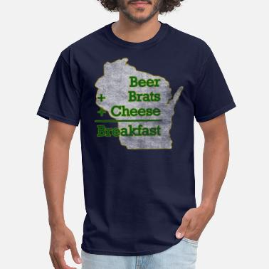 Down With Detroit Beer Brats Cheese Breakfast Milwaukee Clothing - Men's T-Shirt