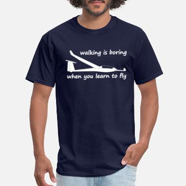 Bored In The Usa walking is boring when you learn to fly usa - Men's T-Shirt