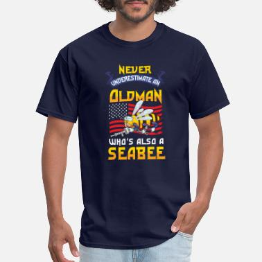 Seaman Military Navy Veteran Gift Seabee Retired Warship Military - Men's T-Shirt