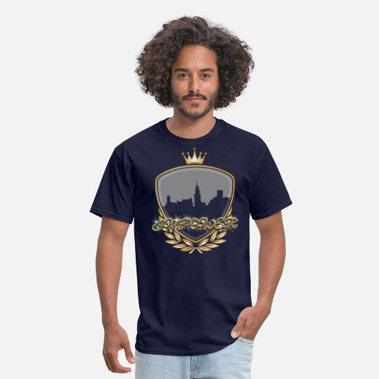 Old School Hip Hop T-Shirts - Impower Cityscape Design - Men's T-Shirt navy