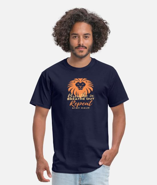 Spreadfeelings T-Shirts - Breathe - Men's T-Shirt navy