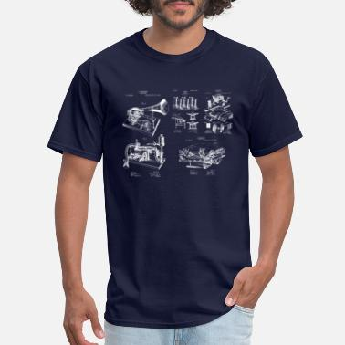 Phonograph Phonograph Invention Patent Designs - Men's T-Shirt