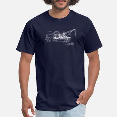 Vintage Patent Drawing Vintage Tow Truck Patent Drawing 1943 - Men's T-Shirt