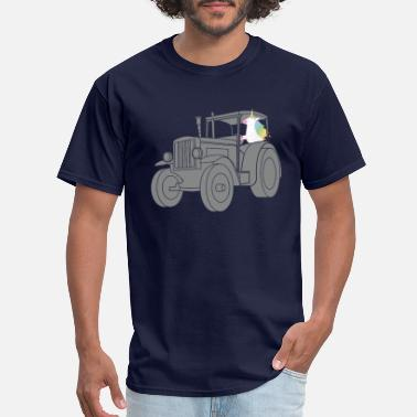 Tractor Driving Unicorn Driving Tractor Funny T-Shirt for Farmers - Men's T-Shirt