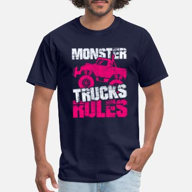 Vans Monster Trucks Rules Cars Trucks Driver Rally Gift - Men's T-Shirt