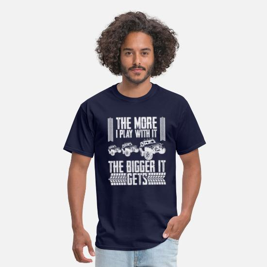 Rally T-Shirts - The More I Play with it The Bigger It Gets Jeep - Men's T-Shirt navy