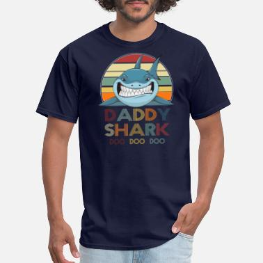 Daddy Retro Vintage Daddy Shark Tshirt gift for Father - Men's T-Shirt