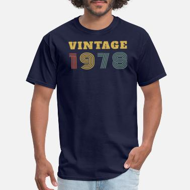 Vintage 1978 40th Birthday Gift Vintage 1978 Year T Shirt - Men's T-Shirt