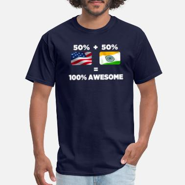 Jaipur Half Indian Half American Totally Awesome - Men's T-Shirt