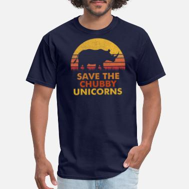 Save Save The Chubby Unicorns Tee Vintage Retro Colors - Men's T-Shirt