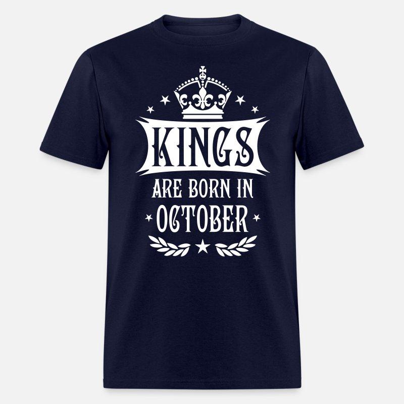 49e3d63e 21 Kings are born in October King Happy Birthday Men's T-Shirt | Spreadshirt