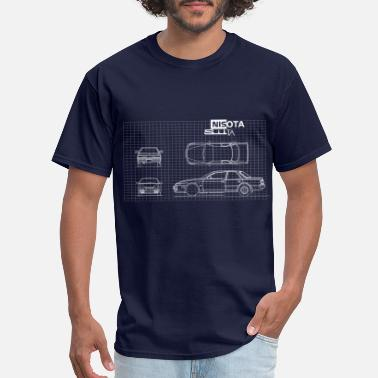 Nissan Nisota Silta: Silvia S14 and Cresta GX81 mashup - Men's T-Shirt