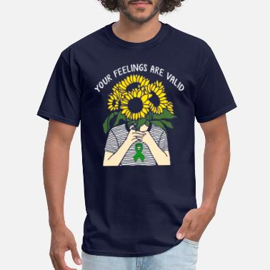 Health Your Feelings Are Valid Mental Health Awareness - Men's T-Shirt
