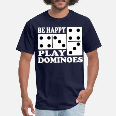 Domino Game play dominoes Domino for player game gift idea - Men's T-Shirt