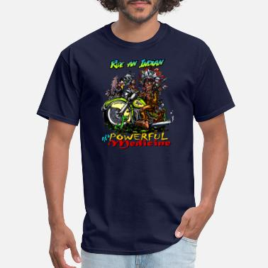 Indian Clubs Ride an Indian, it's powerful medicine! - Men's T-Shirt