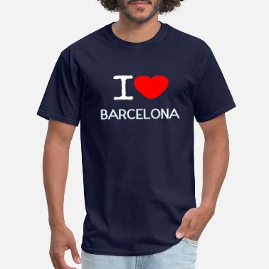 I Love Barcelona I LOVE BARCELONA - Men's T-Shirt