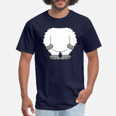 Grin yeti disguise costume headless head big snow laugh - Men's T-Shirt