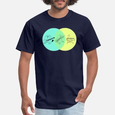 Diagram Keytar Platypus Venn Diagram - Men's T-Shirt