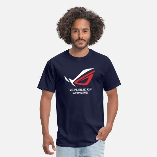 Gamers T-Shirts - Asus Republic Of Gamers Mercandis ROG - Men's T-Shirt navy