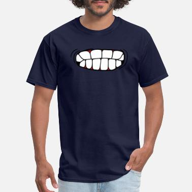 Madness teeth crunching mouth pissed head face angry angry - Men's T-Shirt