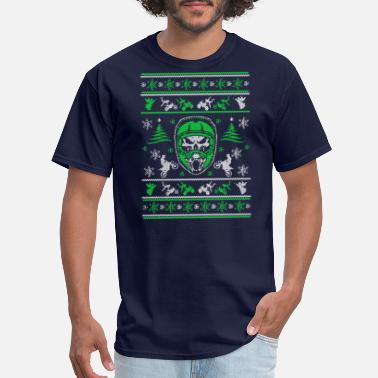 Christmas Motocross Motocross Ugly Christmas Sweater - Men's T-Shirt