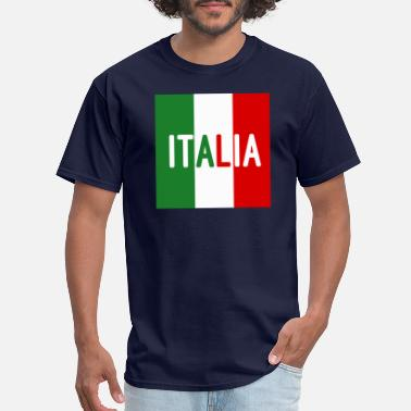 Italian Flag And Italia Italia Italian Flag - Men's T-Shirt