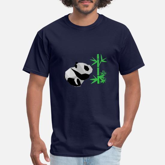 Men/'s Premium Cotton Origami Panda T-Shirt