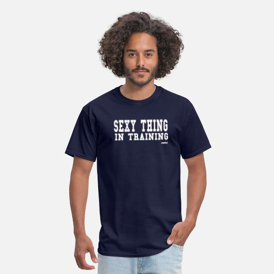 Funny Gym T-Shirts - sexy thing in training  by wam - Men's T-Shirt navy