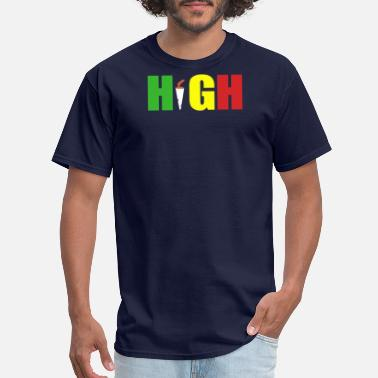 Rasta Cartoon HIGH rasta - Men's T-Shirt