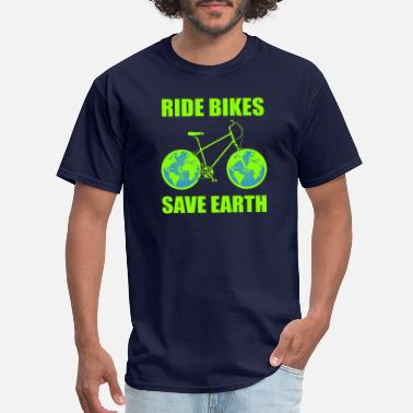 Bicycle jungle wilderness nature animals water - Men's T-Shirt