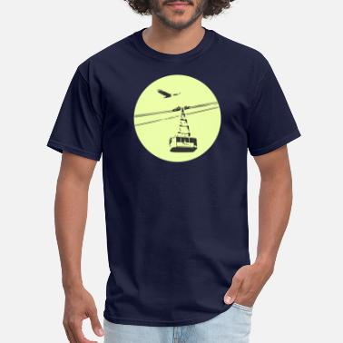 Cable Car Gondola / cable car with eagle green - Men's T-Shirt