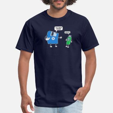 Funny Programming Computer Engineering Father & Son Floppy Disk Gift - Men's T-Shirt