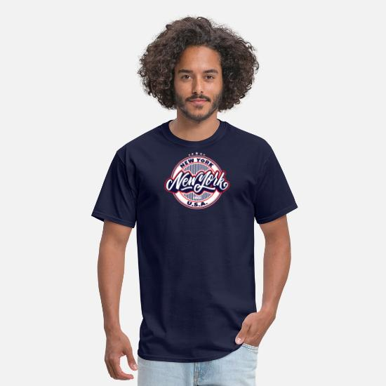 York T-Shirts - New York City New York - Men's T-Shirt navy