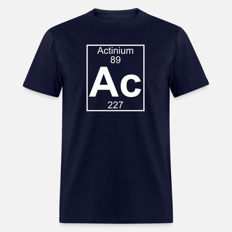 Element 89 - ac (actinium) - Full Men's T-Shirt - mineral charcoal gray