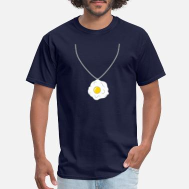 Jewelry jewelry necklace fried egg cooking roast food egg - Men's T-Shirt