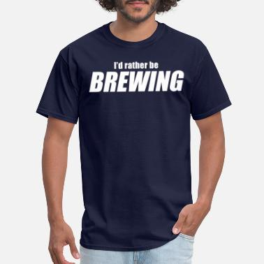 Network I'D RATHER BE BREWING - HB Network - Double Sided - Men's T-Shirt