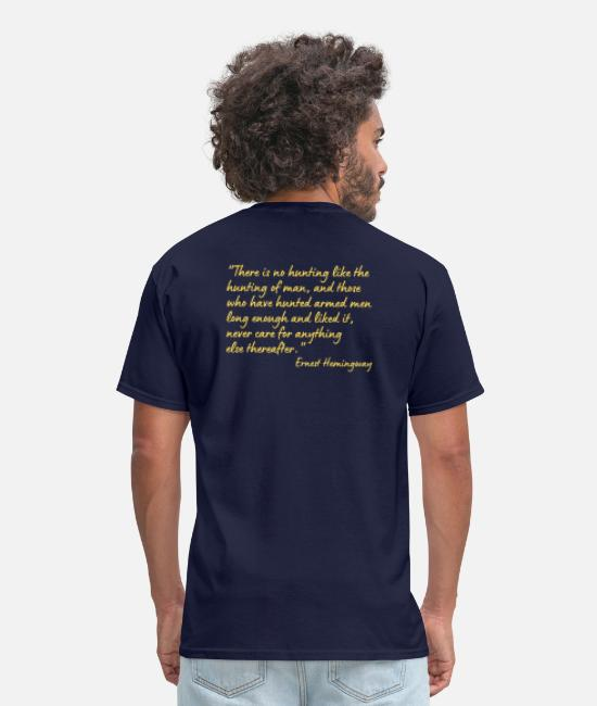 Office T-Shirts - There is no hunting like the hunting of man and - Men's T-Shirt navy