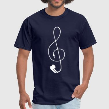earphones - Men's T-Shirt