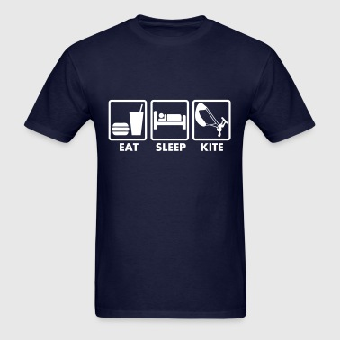 eat sleep kite - Men's T-Shirt