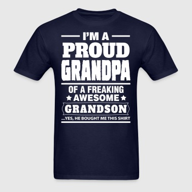 Proud Grandpa....... - Men's T-Shirt