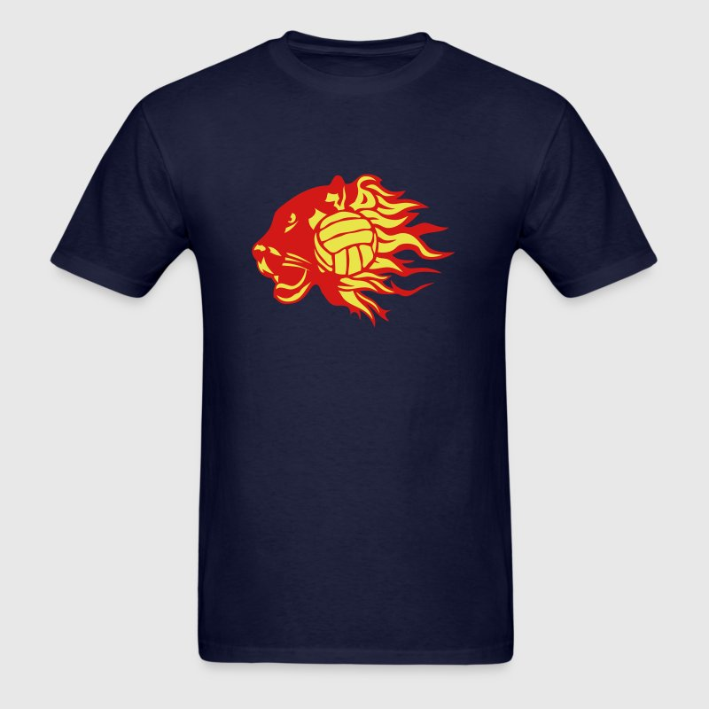 volleyball panther fire flame logo - Men's T-Shirt