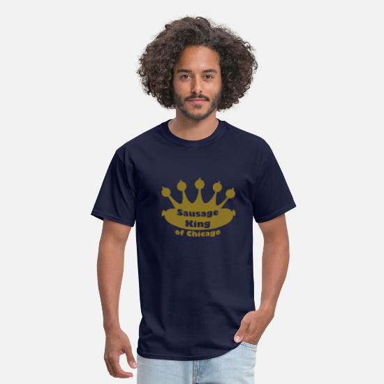 Chicago T-Shirts - Sausage King of Chicago - Men's T-Shirt navy